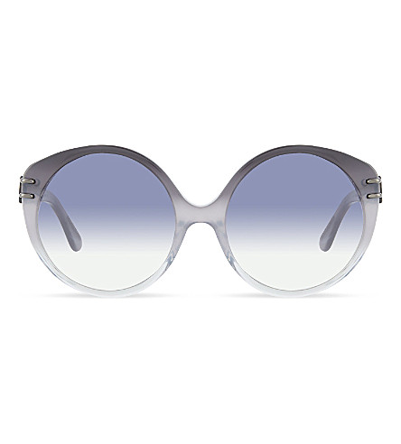 ROLAND MOURET Farah round sunglasses (Grey/crystal