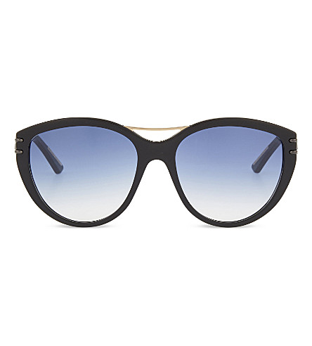 ROLAND MOURET Jones cateye aviator sunglasses (Black