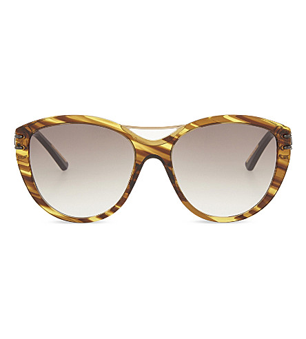 ROLAND MOURET Jones tortoiseshell cateye aviator sunglasses (Fire+tort