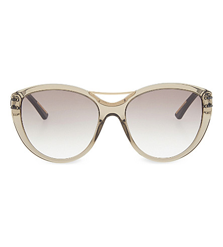 ROLAND MOURET Jones tortoiseshell cateye aviator sunglasses (Trans+grey