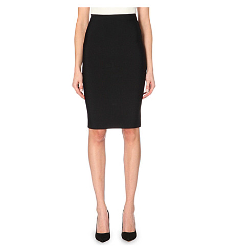 ROLAND MOURET Fitted pencil skirt (Black