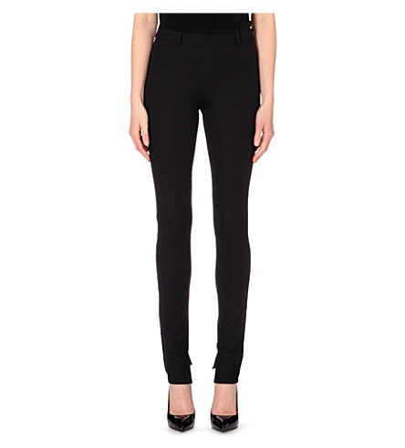 ROLAND MOURET Mortimer skinny stretch-crepe trousers (Black