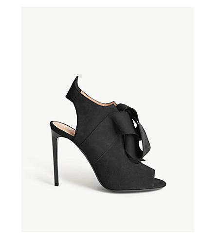 ROLAND MOURET Minouche suede heeled sandals (Black