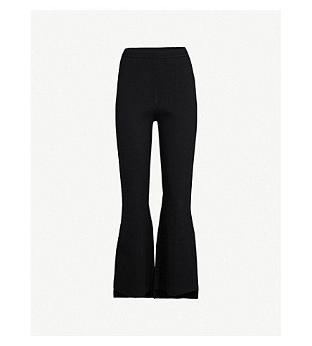 ROLAND MOURET Stalham flared stretch trousers (Blk
