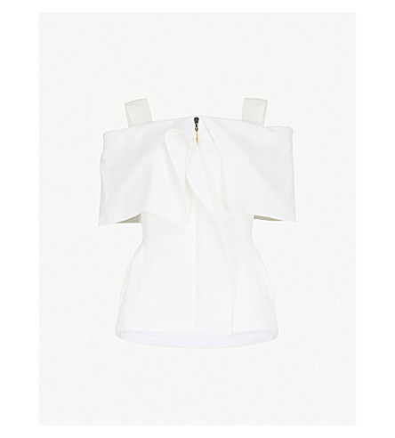 ROLAND MOURET Allonby wool-crepe jacket (White