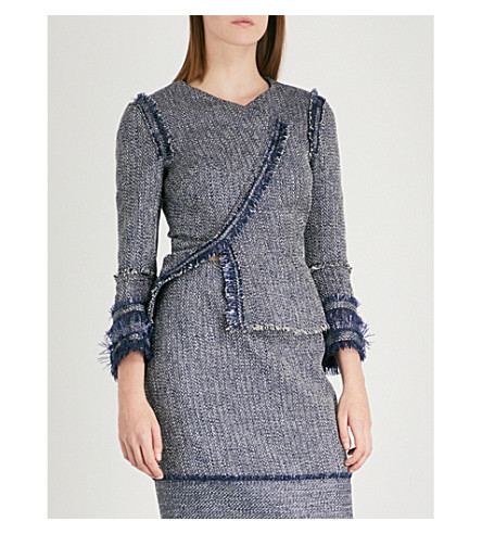 ROLAND MOURET Kirkham tweed jacket (Navy+multi