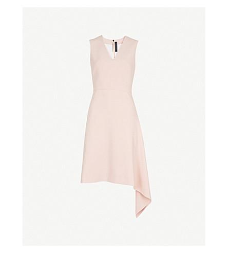 ROLAND MOURET Aylsham V领闪光绉裙 (淡 + 粉红色