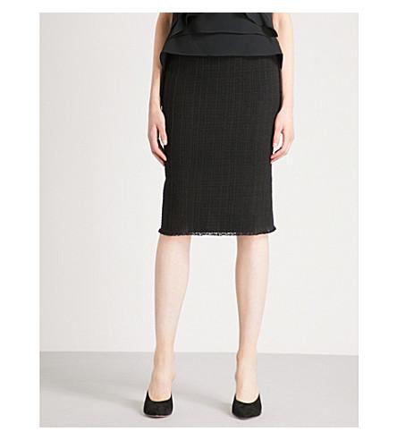 ROLAND MOURET Ryehill open-weave cotton skirt (Blk