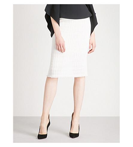 ROLAND MOURET Ryehill open-weave cotton skirt (White