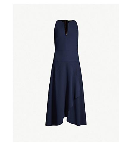 ROLAND MOURET Jackson crepe dress (Navy