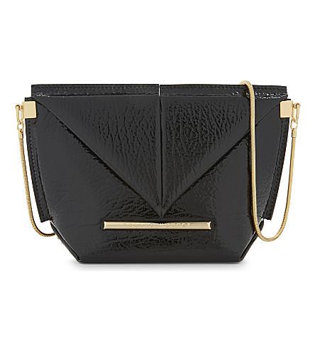 ROLAND MOURET Mini Classico patent leather cross-body bag (Black