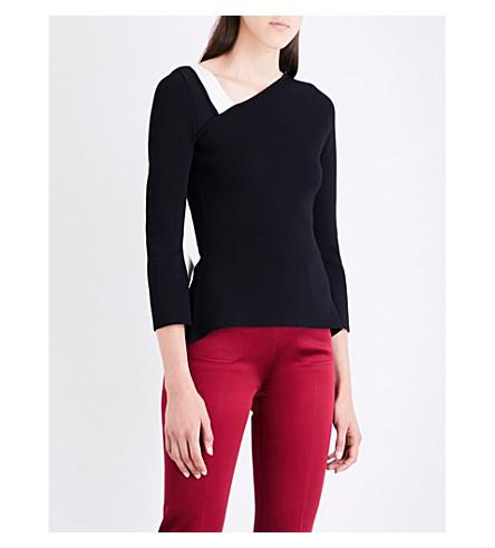 ROLAND MOURET Penhurst knitted top (Black