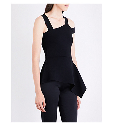 ROLAND MOURET Raysee cuout knitted top (Black
