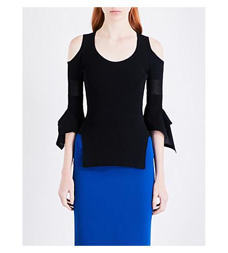 ROLAND MOURET Burford stretch-knit top (Black