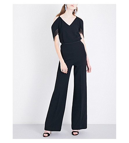 ROLAND MOURET Burnstein wool jumpsuit (Black