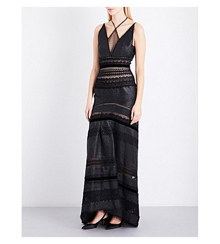 ROLAND MOURET Alderman cotton-blend gown (Black