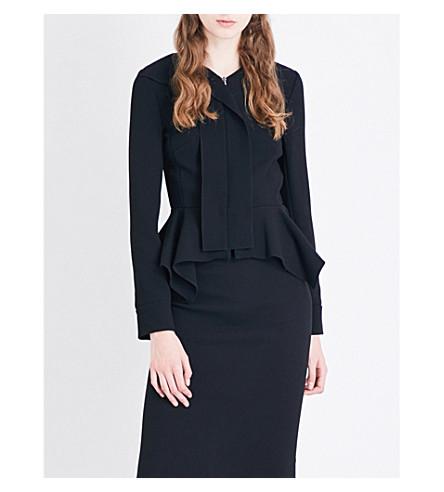 ROLAND MOURET Lavenden wool-crepe jacket (Black