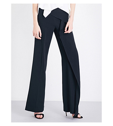 ROLAND MOURET Coveney crepe trousers (Black
