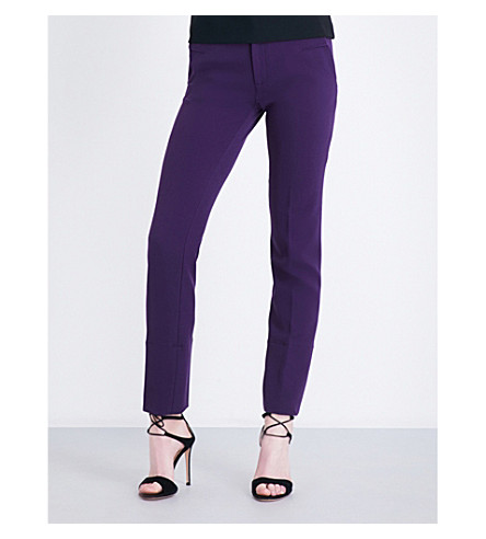 ROLAND MOURET Lacerta tapered stretch-crepe trousers (Dark+violet