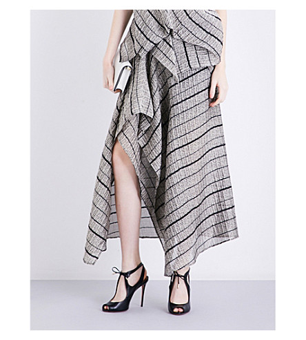 ROLAND MOURET Haxby metallic-cloqué skirt (Peuter/black