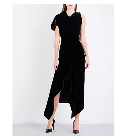 ROLAND MOURET Wren velvet dress (Black
