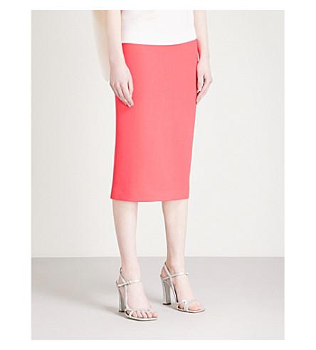 ROLAND MOURET Arreton wool-crepe pencil skirt (Pink