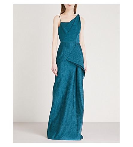 ROLAND MOURET Chorley cotton-blend dress (Dark+jade