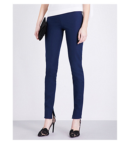 ROLAND MOURET Mortimer slim-fit stretch-cotton trousers (Navy
