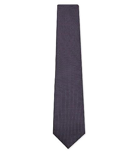 CORNELIANI Dot-diamond silk tie (Purple