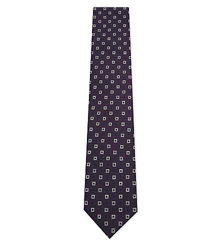 CORNELIANI Big paisley silk tie (Purple+1