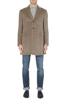 CORNELIANI Single-breasted alpaca coat
