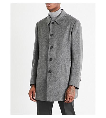 CORNELIANI Single-breasted cashmere coat (Grey