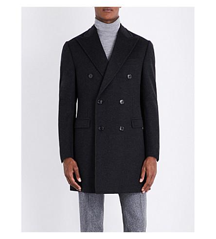 CORNELIANI Double-breasted wool coat (Charocal