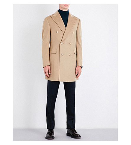 CORNELIANI Double-breasted cashmere coat (Camel