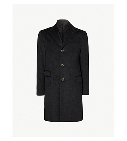 CORNELIANI ID wool overcoat (Charcoal