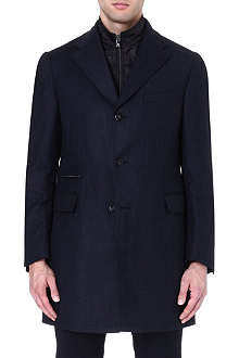 CORNELIANI Zip-insert tailored coat