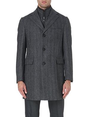 CORNELIANI Herringbone wool-blend jacket