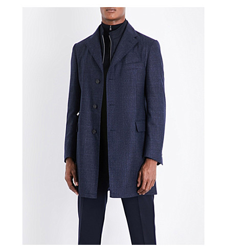 CORNELIANI ID regular-fit wool coat (Blue