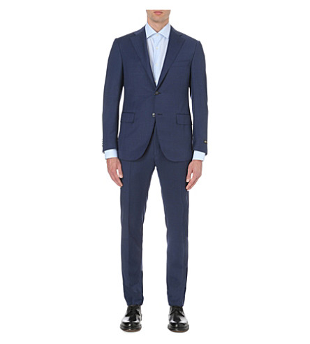 CORNELIANI Classic-fit wool suit (Blue