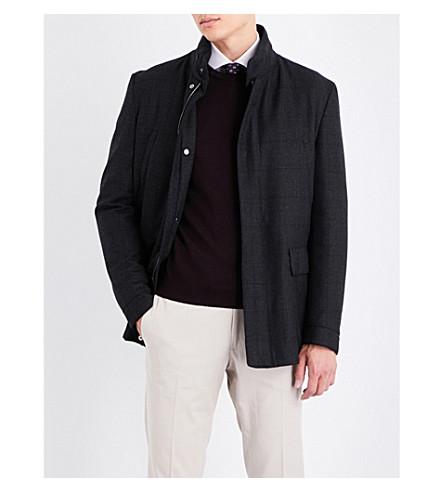CORNELIANI Checked wool coat (Charcoal