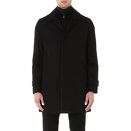 CORNELIANI Twill insert coat (Black