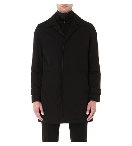 CORNELIANI Twill insert coat (Black