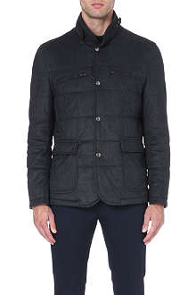 CORNELIANI Herringbone quilted coat