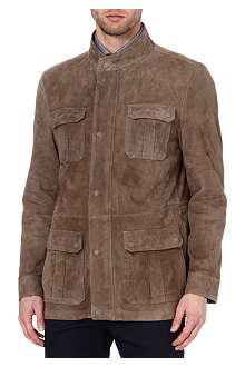 CORNELIANI Suede four-pocket jacket