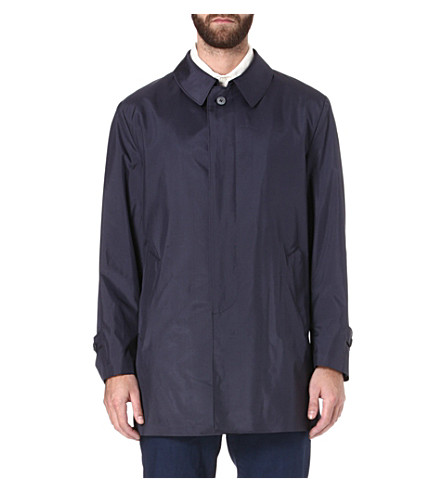 CORNELIANI Silk raincoat (Navy