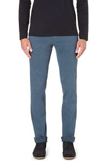 CORNELIANI Slim-fit tapered stretch-cotton chinos