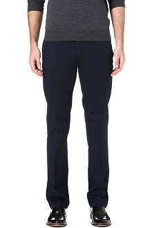 CORNELIANI Straight-leg stretch-cotton chinos