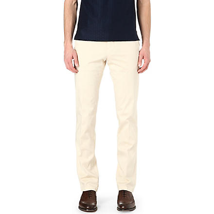 CORNELIANI Stretch-cotton chinos (Beige