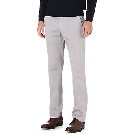 CORNELIANI Stretch-cotton chinos (Grey