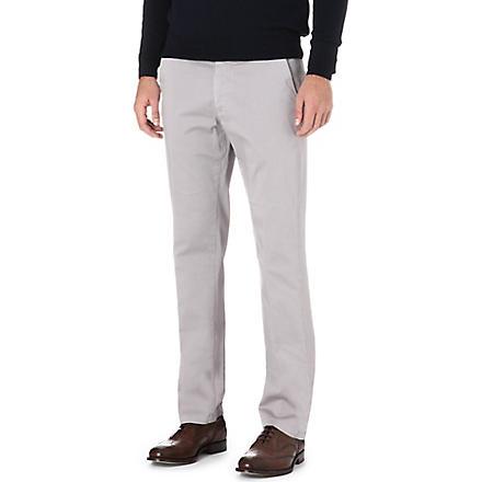 CORNELIANI Stretch-cotton chinos (Grey